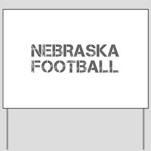 NEBRASKA football-cap gray Yard Sign