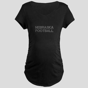 NEBRASKA football-cap gray Maternity T-Shirt
