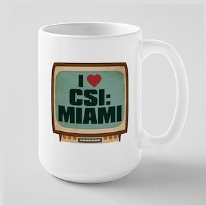 Retro I Heart CSI: Miami Large Mug