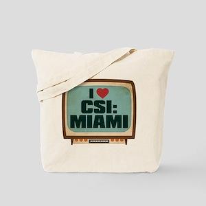 Retro I Heart CSI: Miami Tote Bag