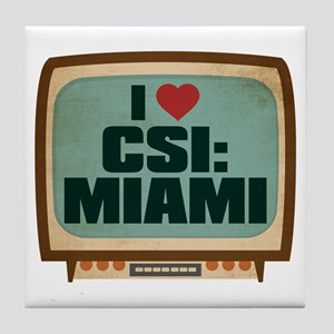 Retro I Heart CSI: Miami Tile Coaster