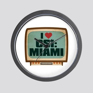 Retro I Heart CSI: Miami Wall Clock