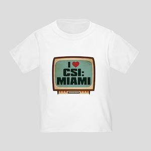 Retro I Heart CSI: Miami Infant/Toddler T-Shirt