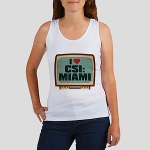 Retro I Heart CSI: Miami Women's Tank Top