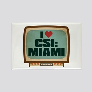 Retro I Heart CSI: Miami Rectangle Magnet