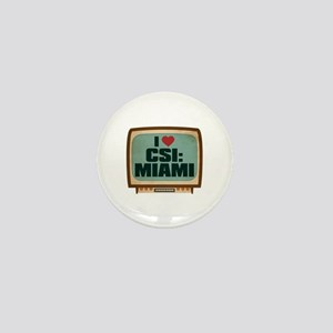 Retro I Heart CSI: Miami Mini Button
