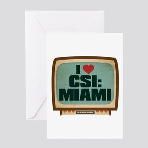 Retro I Heart CSI: Miami Greeting Card