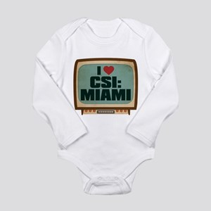 Retro I Heart CSI: Miami Long Sleeve Infant Bodysu