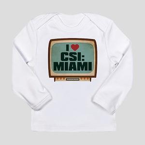 Retro I Heart CSI: Miami Long Sleeve Infant T-Shir