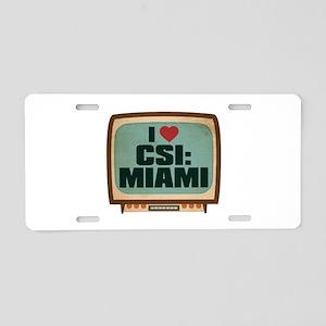 Retro I Heart CSI: Miami Aluminum License Plate