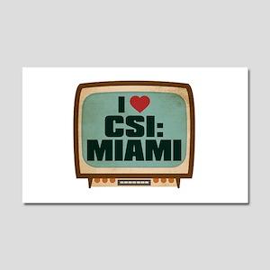 Retro I Heart CSI: Miami Car Magnet 20 x 12