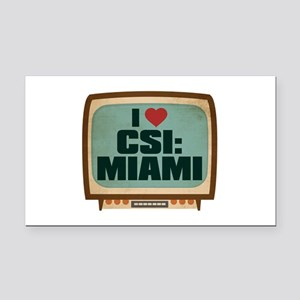 Retro I Heart CSI: Miami Rectangle Car Magnet