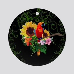 Cute parrot Ornament (Round)