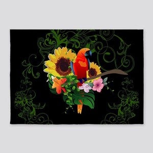 Cute parrot 5'x7'Area Rug