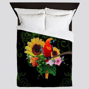 Cute parrot Queen Duvet
