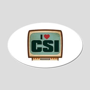 Retro I Heart CSI 22x14 Oval Wall Peel