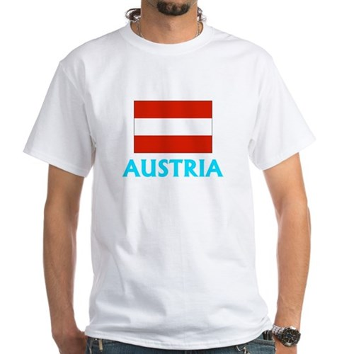 Austria Flag Classic Blue Design T-Shirt