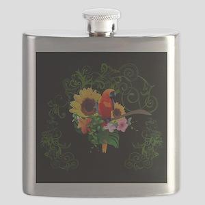 Cute parrot Flask