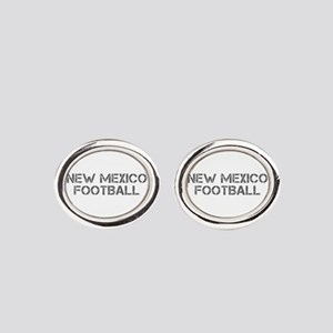 NEW MEXICO football-cap gray Oval Cufflinks