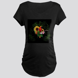 Cute parrot Maternity T-Shirt