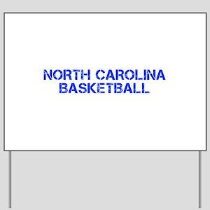 NORTH CAROLINA basketball-cap blue Yard Sign
