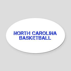 NORTH CAROLINA basketball-cap blue Oval Car Magnet
