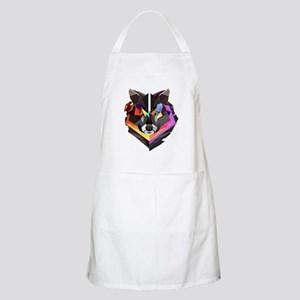 COLORED WOLF Apron