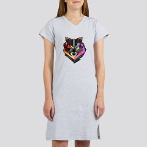 COLORED WOLF Women's Nightshirt