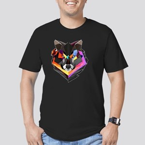COLORED WOLF Men's Fitted T-Shirt (dark)