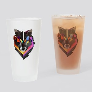COLORED WOLF Drinking Glass
