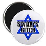 """Six Days, Bitch"" Magnet"