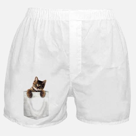 Boxer Shorts with a little cat in the pocket