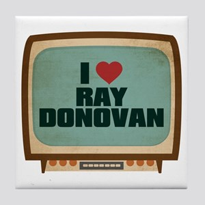 Retro I Heart Ray Donovan Tile Coaster
