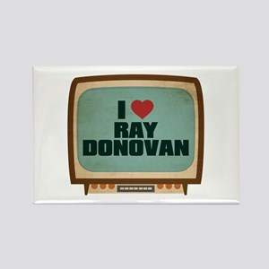 Retro I Heart Ray Donovan Rectangle Magnet