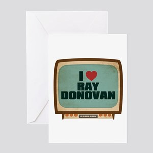 Retro I Heart Ray Donovan Greeting Card