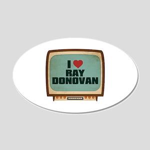 Retro I Heart Ray Donovan 22x14 Oval Wall Peel