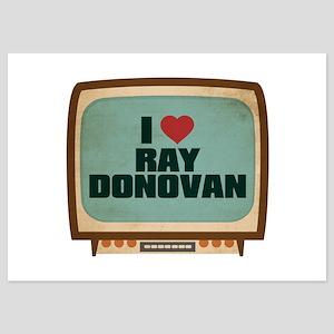 Retro I Heart Ray Donovan 5x7 Flat Cards