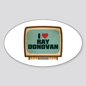 Retro I Heart Ray Donovan Oval Sticker