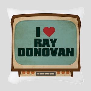 Retro I Heart Ray Donovan Woven Throw Pillow