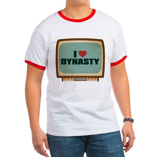 Retro I Heart Dynasty Ringer T-Shirt