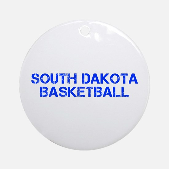SOUTH DAKOTA basketball-cap blue Ornament (Round)