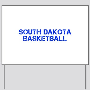 SOUTH DAKOTA basketball-cap blue Yard Sign