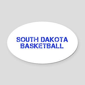 SOUTH DAKOTA basketball-cap blue Oval Car Magnet