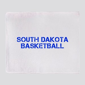 SOUTH DAKOTA basketball-cap blue Throw Blanket