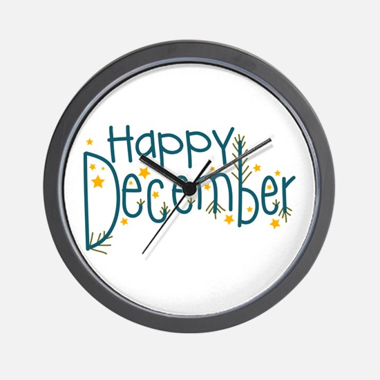Happy December Wall Clock
