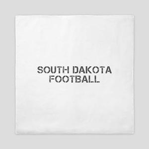 SOUTH DAKOTA football-cap gray Queen Duvet