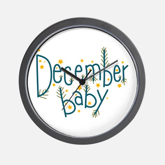 December Baby Wall Clock