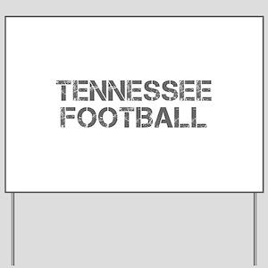 TENNESSEE football-cap gray Yard Sign