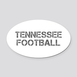 TENNESSEE football-cap gray Oval Car Magnet