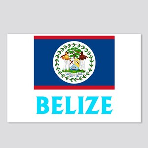 Belize Flag Classic Blue Postcards (Package of 8)